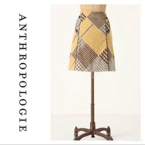 Maeve Houndstooth Velvet Skirt